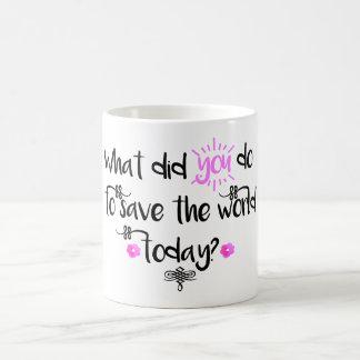 何がした… 感動的なタイポグラフィのマグ コーヒーマグカップ