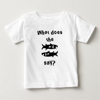 何が魚言いますか。 ベビーTシャツ