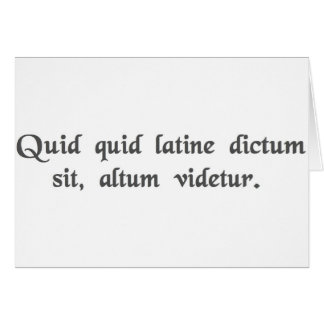 何でも深遠なラテン系の音で言いました カード