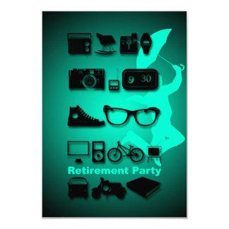 何でも-1を-退職のパーティの招待状好みます カード