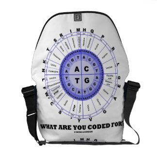 何のためにコードされますか。 (DNAの写し) メッセンジャーバッグ