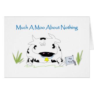 何もについての多くのA Moo カード