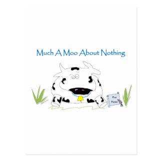 何もについての多くのA Moo ポストカード