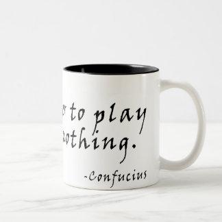 何もより遊ぶためによくして下さい ツートーンマグカップ