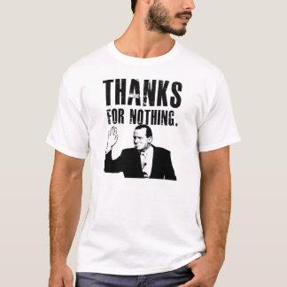 何もをありがとうトニーのワイシャツ(白い) Tシャツ