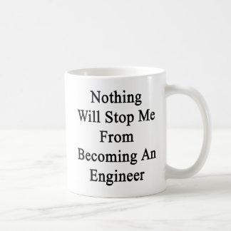 何もエンジニアに似合うことからの私をストップ コーヒーマグカップ