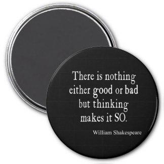 何もシェークスピアのよくか悪く考えるな引用文 マグネット