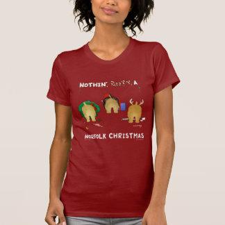 何もノーフォークのクリスマスを接合しません Tシャツ