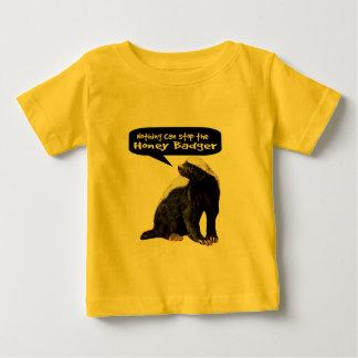 何もラーテルをストップことができません! (彼は話します) ベビーTシャツ