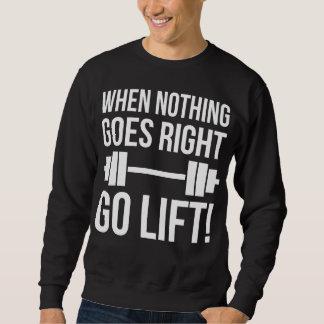 何も上昇は正しく行かないとき行きます スウェットシャツ