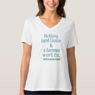 何も度の強い酒およびハンマー固定しません Tシャツ