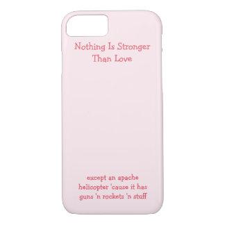 何も愛より強くないです。 おもしろいなiPhoneの場合 iPhone 8/7ケース