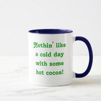何も熱いココアとの冷たい日を好みません! 、y… マグカップ