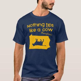 何も牛Tシャツのようにひっくり返ません Tシャツ