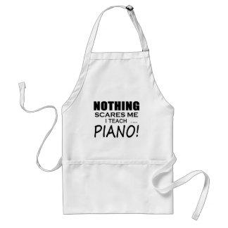 何も私をピアノおびえさせません スタンダードエプロン