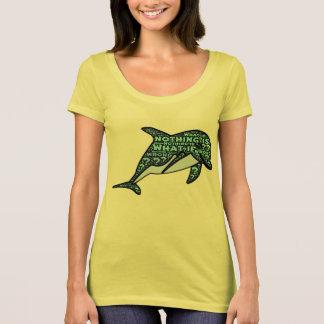 何も間違っていなければ何か。  禅のイルカのデザイン Tシャツ
