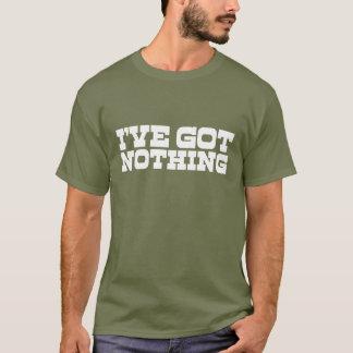 """""""何も"""" Tシャツ"""