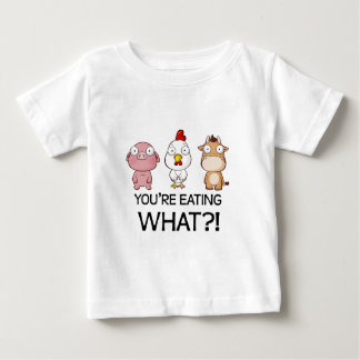 何を食べていますか。! -何を食べますか。! -動物 ベビーTシャツ
