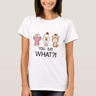 何を食べていますか。! -何を食べますか。! -動物 Tシャツ