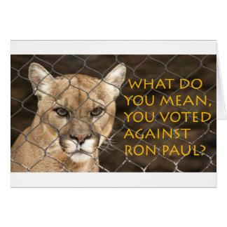 何ロン・ポールに対して投票しました意味しますか。 カード