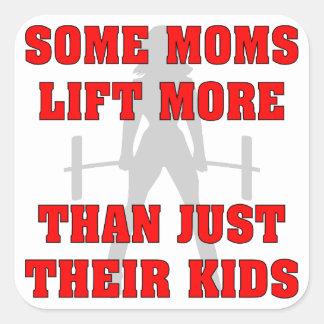 何人かのお母さんは多くによりちょうど彼女達の子供を持ち上げます スクエアシール