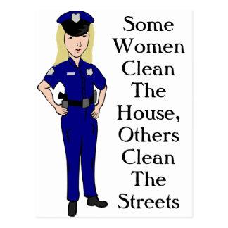何人かの女性は警官のユーモアをきれいにします ポストカード