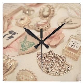 何時ですか。 -ヴィンテージの時計 スクエア壁時計