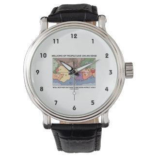 何百万の人々は端のプレート造構論に住んでいます 腕時計