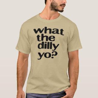 何dillyのyoか。 (blk) tシャツ