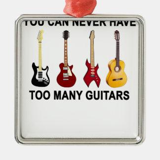 余りにも多くのギターT-Shirt.png メタルオーナメント