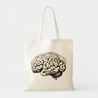 余りにも多くのタブは頭脳を開けます トートバッグ