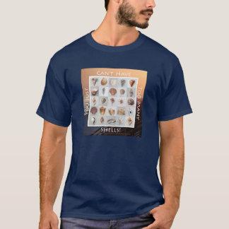 余りにも多くの貝! オレンジ日没 Tシャツ