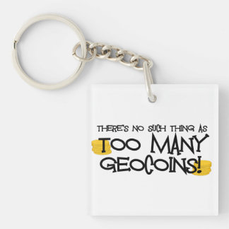 余りにも多くのGeocoinsか。! Geocaching Keychain キーホルダー