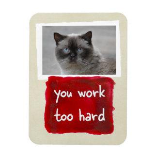 余りに堅くカスタムな猫の写真の磁石を働かせます マグネット