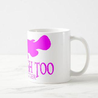 余りに女の子の魚のナマズ コーヒーマグカップ