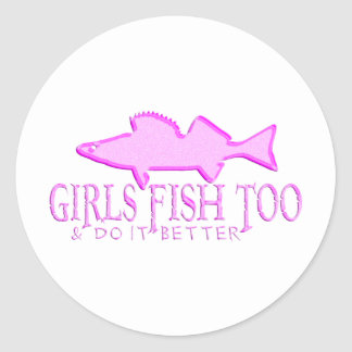 余りに女の子の魚のWALLEYE ラウンドシール