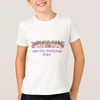 余りに子供の発掘のワスレグサのTシャツ Tシャツ