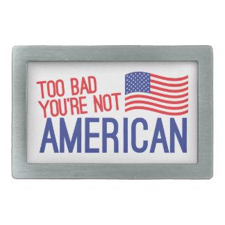 余りに悪いあなたはアメリカ 長方形ベルトバックル