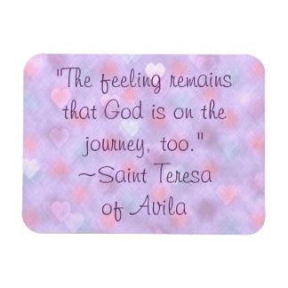 余りに旅行の引用文の磁石の聖者のテレサの神 マグネット