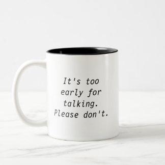 余りに早く話すマグのために ツートーンマグカップ