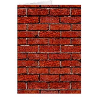 余りに赤レンガの壁の~ カード