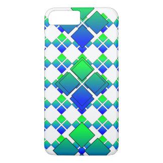 余りに青緑のダイヤモンド3D iPhone 8 PLUS/7 PLUSケース