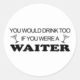 余りに飲み物の-ウェイター ラウンドシール