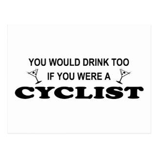 余りに飲み物の-サイクリスト ポストカード