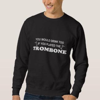 余りに飲み物の-トロンボーン スウェットシャツ
