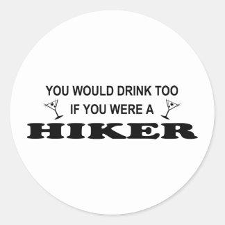 余りに飲み物の-ハイカー ラウンドシール