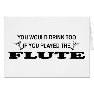 余りに飲み物の-フルート カード