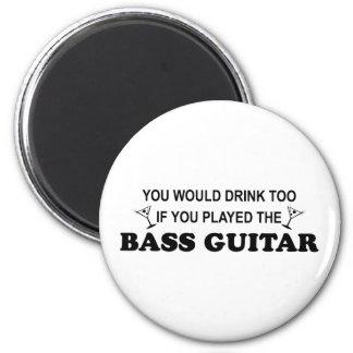 余りに飲み物の-ベースギター マグネット