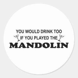 余りに飲み物の-マンドリン ラウンドシール