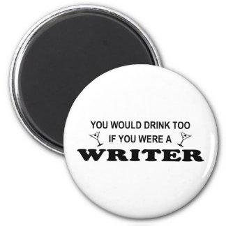 余りに飲み物の-作家 マグネット